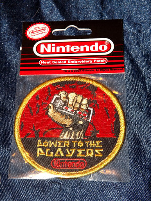 "Classic Nintendo Clothing Patch: 3""x3"" Power to the Players"
