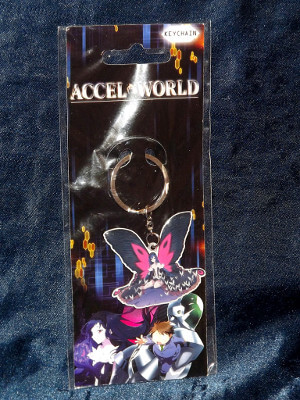 Accel World Keychain: Black Snow Princess 'Kuroyukihime' (Metal Charm)