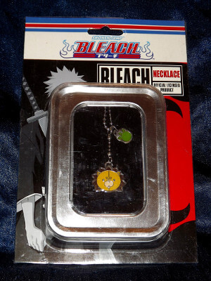 Bleach Necklace: Kon Head and Footprint (Metal Charm)