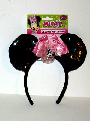 Disney Headband: Minnie Mouse Ears, Deluxe with Sequins