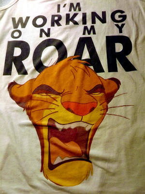 "Disney's Lion King Tank Top: Simba, ""I'm Working On My Roar"" (Women's Extra Large)"