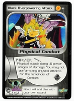 Dragon Ball Z CCG Game Card: Black Overpowering Attack