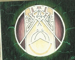 Magic the Gathering 4th Edition Card: Circle of Protection: Green
