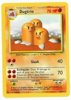 Pokemon TCG Card: Diglett Stage 1: Dugtrio from Base