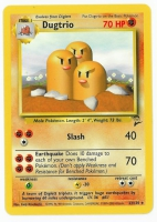 Pokemon TCG Card: Diglett Stage 1: Dugtrio from Base 2
