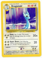 Pokemon TCG Card: Dratini Stage 1: Dragonair from Base