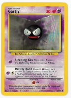 Pokemon TCG Card: Gastly from Base
