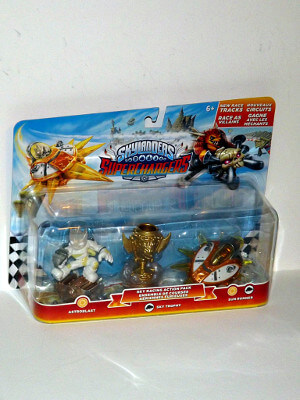 "Skylanders Superchargers Figure Set: 3"" Skyracing Action Pack, with Astroblast, Sky Trophy and Sun Runner"