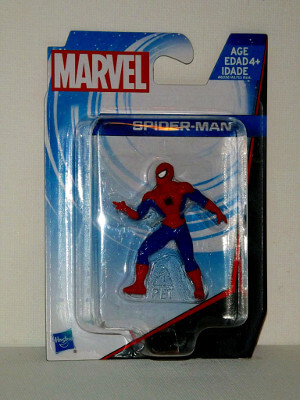 "Marvel's Spider-Man Mini PVC Figure: 2"" Spidey, Tossing a Web"