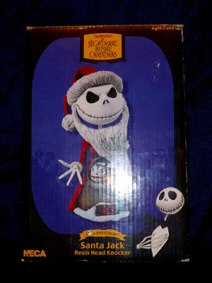 Nightmare Before Christmas Bobblehead: 10th Anniversary Santa Jack Resin Head Knocker