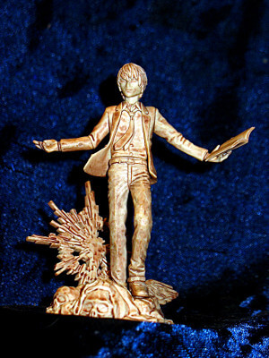 "Death Note Trading Figure: 3½"" Real Figure Collection: Yagami Light as Kira Statue"