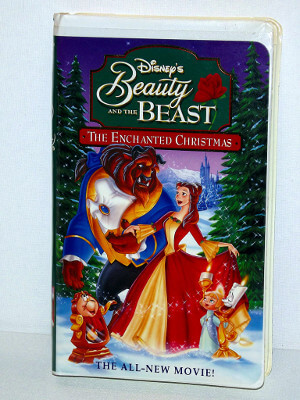 Disney VHS Tape: Beauty and the Beast: The Enchanted Christmas