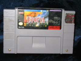 Super Nintendo Game: Utopia The Creation of a Nation