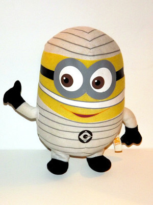 "Despicable Me Plushie: 10"" Dave the Minion, As a Mummy"