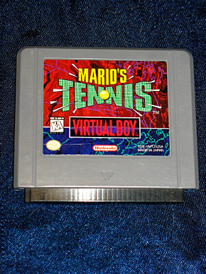 Nintendo Virtual Boy Game: Mario's Tennis