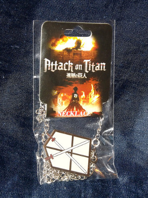 Attack on Titan Necklace: 104th Trainees Squad Emblem (Metal)