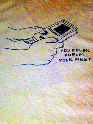 Classic Nintendo T-Shirt: You Never Forget Your First (Game Boy) (Extra Large)