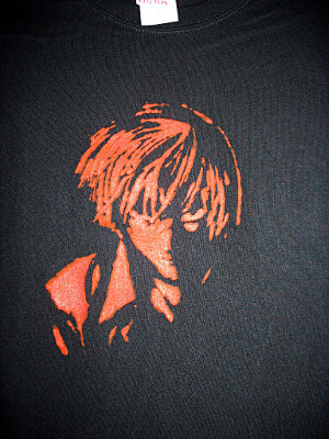Death Note Fanart T-Shirt: Yagami Light (Large)