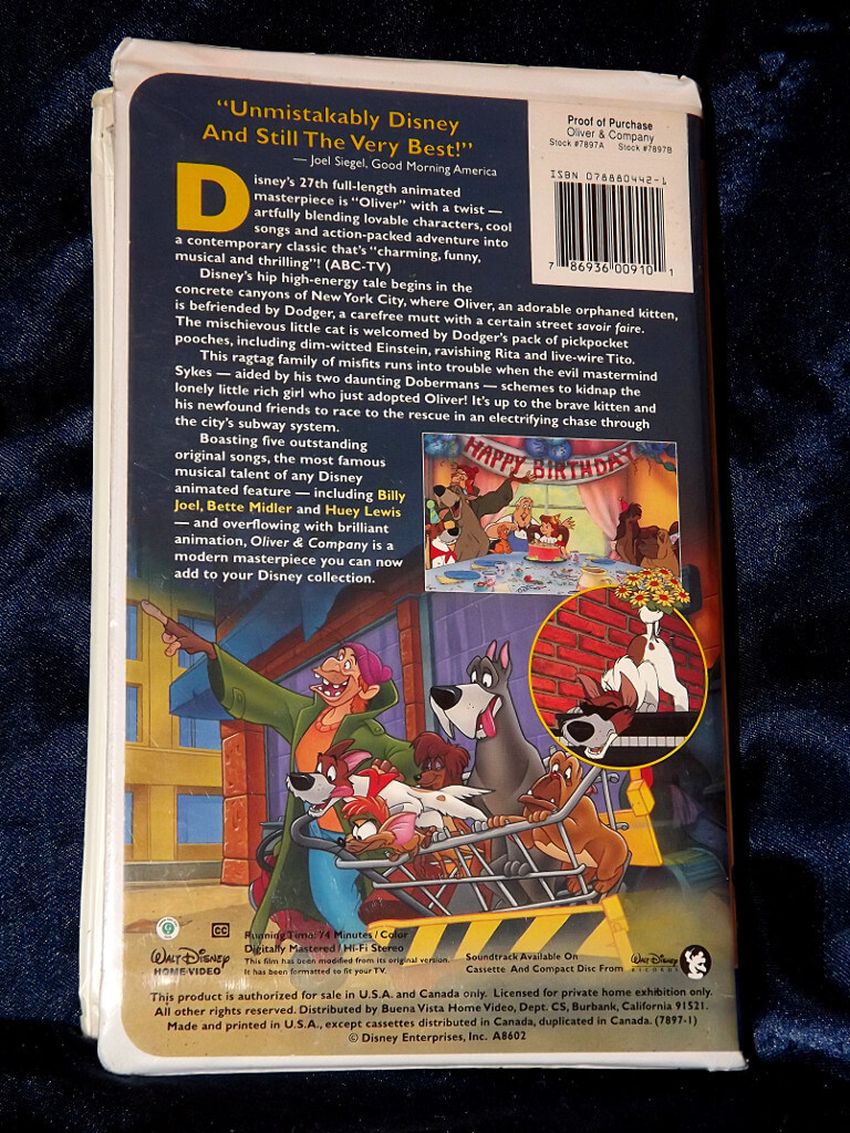-=Chameleon's Den=- Disney VHS Tape: Oliver and Company