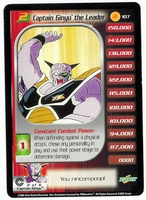 Dragon Ball Z  CCG Character Card: Captain Ginyu the Leader