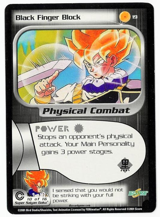 Dragon Ball z Ccg Card Black