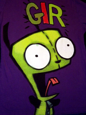 Invader Zim T-Shirt: Purple Gir (Women's Large)