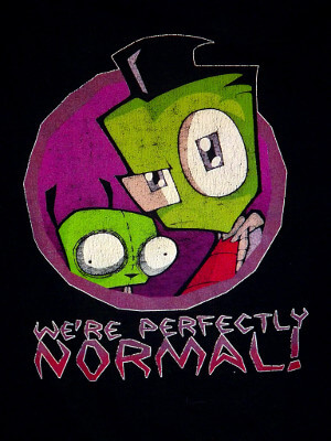 Invader Zim T-Shirt: We're Perfectly Normal! (Extra Large)