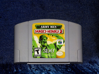 Nintendo 64 Game: Army Men Sarge's Heroes 2 (Gray Version)