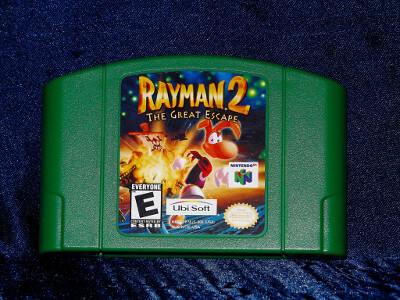 Nintendo 64 Game: Rayman 2 The Great Escape with Box and Manual