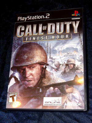Playstation 2 Game: Call of Duty: Finest Hour (From a Set)