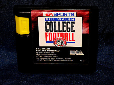 Sega Genesis Game: Bill Walsh College Football