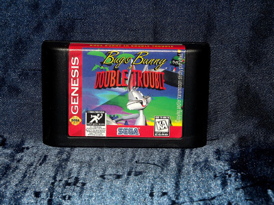 Sega Genesis Game: Bugs Bunny in Double Trouble with Box and Manual