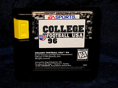 Sega Genesis Game: College Football USA '96