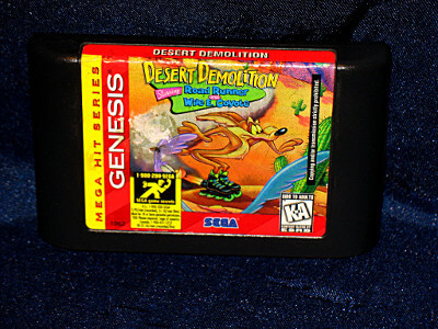 Sega Genesis Game: Desert Demolition Starring Road Runner and Wile E. Coyote