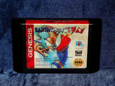 Sega Genesis Game: Earthworm Jim