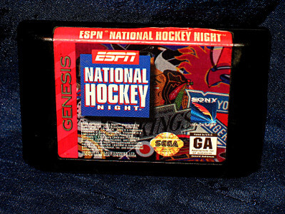 Sega Genesis Game: ESPN National Hockey Night