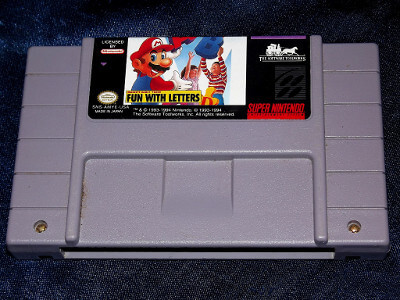 Super Nintendo Game: Mario's Early Years: Fun with Letters