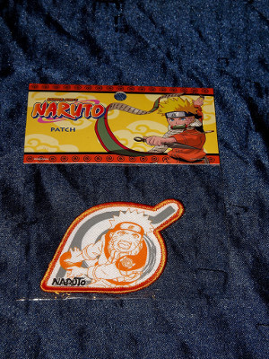 Naruto Clothing Patch: Uzumaki Naruto, Orange Konoha Leaf
