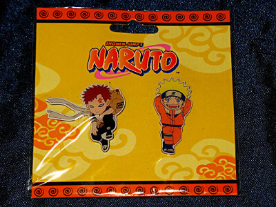 Naruto Pin Set: Gaara and Uzumaki Naruto (Glossy Metal)