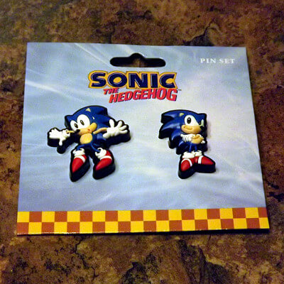 Sonic the Hedgehog Pin Set: 1¼