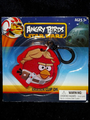 Angry Birds Keychain: Star Wars Luke Skywalker Eraser