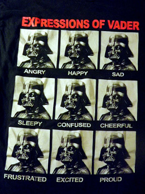 Star Wars T-Shirt: Expressions of Vader (Large)