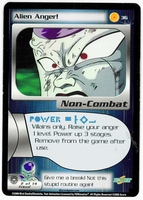 Dragon Ball Z CCG Game Card: Alien Anger!