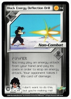 Dragon Ball Z CCG Game Card: Black Energy Deflection Drill