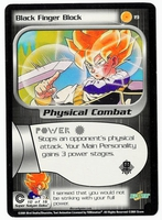 Dragon Ball Z CCG Game Card: Black Finger Block