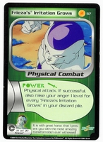 Dragon Ball Z CCG Game Card: Frieza's Irritation Grows