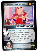 Dragon Ball Z CCG Game Card: It's the Little Things That Matter