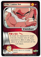 Dragon Ball Z CCG Game Card: Krillin Lashes Out