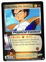 Dragon Ball Z CCG Game Card: Orange Holding After Takedown