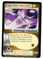 Dragon Ball Z CCG Game Card: Orange Planet Destruction
